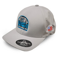 Silver FlexFit Delta 180 Embroidered Hat (L/XL) - SaltwaterAquarium.com
