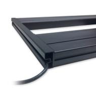 """T5HO Hybrid 18"""" Decorative Endcap (Pair)- Black - Aquatic Life"""