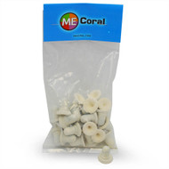 "3/4"" White Round Frag Plugs (25ct) - MECoral"
