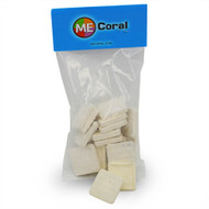 """1 1/4"""" White Square Frag Plugs (15ct) - MECoral"""