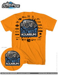 SaltwaterAquarium.com 2019 Orange TShirt (FREE Over $99) - SaltwaterAquarium