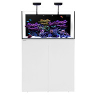 AIO 50.3 Aquarium w/White Stand +PLUS w/ AI Prime & Black Flex Mount - Waterbox