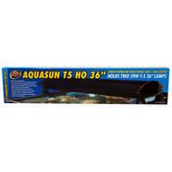 "AquaSun Dual T-5 HO Hood 36"" - ZooMed"