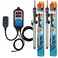 Thermocontrol-E Dual Thermostat (500 Watt) Dual 250 Aquarium Heater Kit - EHEIM Inkbird