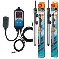Thermocontrol-E Dual Thermostat (400 Watt) Dual 200 Aquarium Heater Kit - EHEIM Inkbird