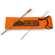 SaltwaterAquarium.com Stainless Steel Straw Set w/Bag - Laser Engraved