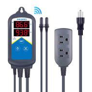 Dual Digital Aquarium Heater Controller w/Dual Probes & WIFI (ITC-306A) - Inkbird