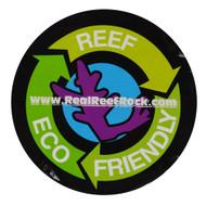 Real Reef Eco Friendly Round Sticker - SAQ.com