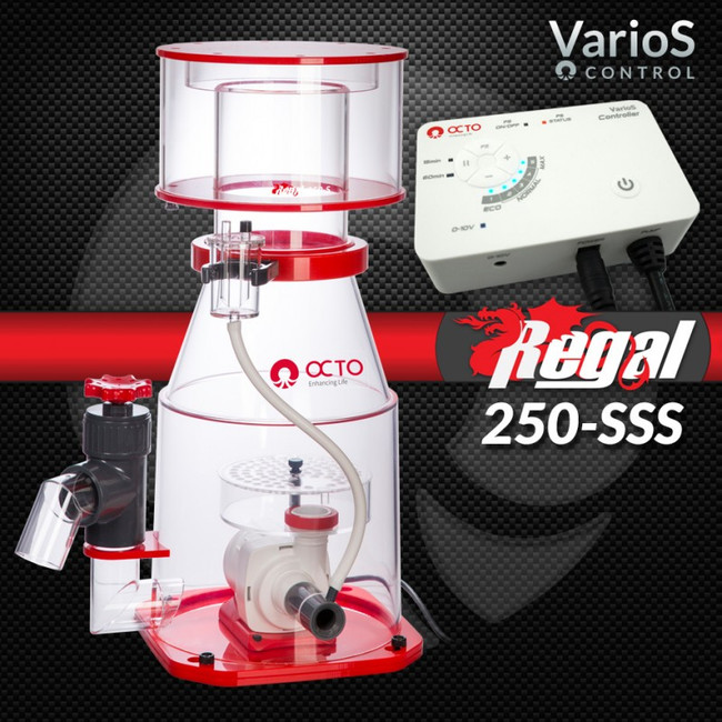 regal 250 sss space saving skimmer 300 600 gallons reef octopus