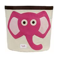 3 Sprouts Storage Bin : Pink Elephant