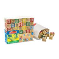 Melissa & Doug ABC/123 Wooden Blocks & Pouch