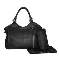 Isoki Leather Hobo Angel Nappy Bag, Bottle Bag & Changing Mat