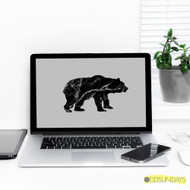 FREEBIE . DIY Marble Bear Wallpaper