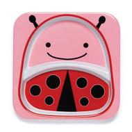 Skip Hop Ladybug Kids Divided Plate
