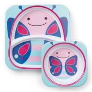 Skip Hop Butterfly Zoo Plate & Bowl Set