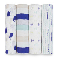 aden + anais Baby Cotton Muslin Swaddles - High Seas