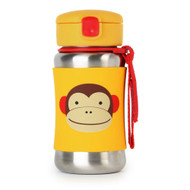 Skip Hop Monkey Stainless Steel Straw Bottle