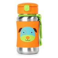 Skip Hop Dog Stainless Steel Straw Bottle