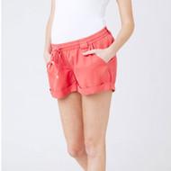 Ripe Maternity Tencel Combat Shorts - Coral