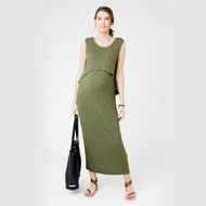 Ripe Maternity Breastfeeding Maxi Dress - Green