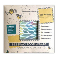 Bee Wrappy Reusable Food Beeswax Wrap (3 Pack)