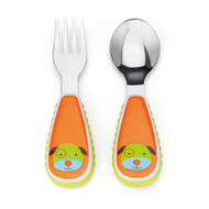 Skip Hop Dog Zoo Fork & Spoon Utensil Set