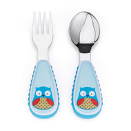 Skip Hop Owl Toddler Fork & Spoon Set