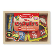 Melissa & Doug Box of 20 Wooden Farm Magnets