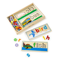 Educational Toy - See & Spell Wooden Puzzle