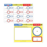 Melissa & Doug Write A Mat Placemat - Telling Time