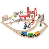 Wooden Double Loop Train Railway Set