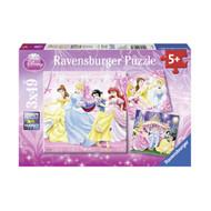 Ravensburger Disney Snow White & Princesses Puzzle 3x49pc