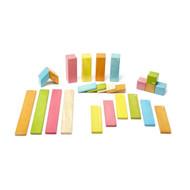 Tegu 24 Piece Magnetic Wooden Block Set - Tints