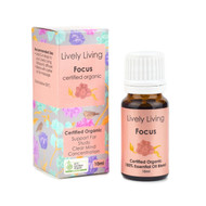Lively Living Pure Organic Essential Oil - Focus / Study