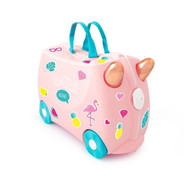 Trunki Ride On Suitcase - Pink Flossi Flamingo