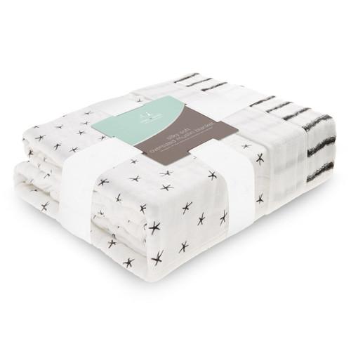 aden + anais Oversized Bamboo Muslin Blanket - Midnight
