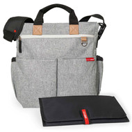 Skip Hop Grey Melange  Duo Diaper Bag & Changing Mat