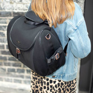 Shop Storksak Poppy Backpack - Scuba Black
