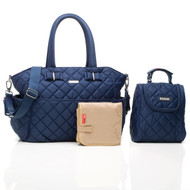 Storksak Bobby Quilted Baby Nappy Bag - Navy
