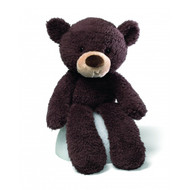 Gund Fuzzy 38cm Plush Toy Bear : Chocolate Brown