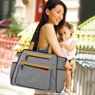 Skip Hop Grand Central Take-it-all Diaper Bag - Black Stripe