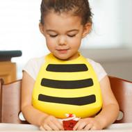 Make My Day Yellow Bumble Bee Silicone Bib