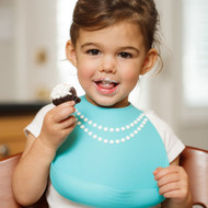 Make My Day Breakfast At Moms Pearl Silicone Bib