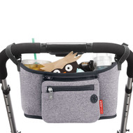 Skip Hop Grab & Go Stroller Organiser Caddy - Heather Grey
