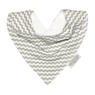 Silly Billyz Grey Chevron Jersey Bandana Baby Bibs