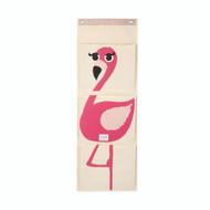3 Sprouts Wall Organiser Storage Online - Pink Flamingo -Peekaboo Baby