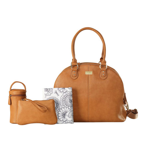 Isoki Madame Polly Baby Nappy Bag - Tan Set