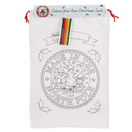Colour Your Own Canvas Sack - DIY Kids Christmas Activity & Gift Set