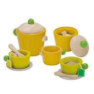 PlanToys Eco Tea Play Set - wooden pretend toys
