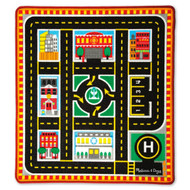 Melissa & Doug Activity Play Rug - City Rescue
